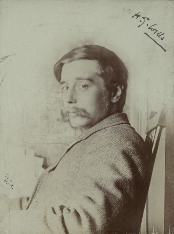 H.G. Wells, by Mayall & Newman Ltd, late 1890s - NPG x13211 - © National Portrait Gallery, London