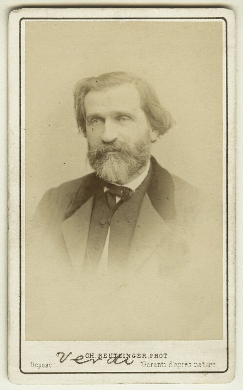 Giuseppe Verdi, by Charles Reutlinger, late 1860s - NPG x13261 - © National Portrait Gallery, London