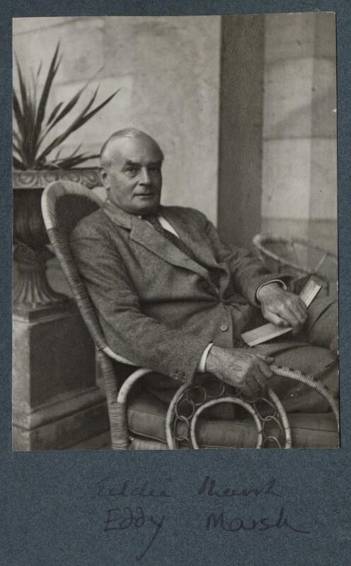Sir Edward Howard Marsh, by Lady Ottoline Morrell, circa 1935 - NPG Ax143902 - © National Portrait Gallery, London