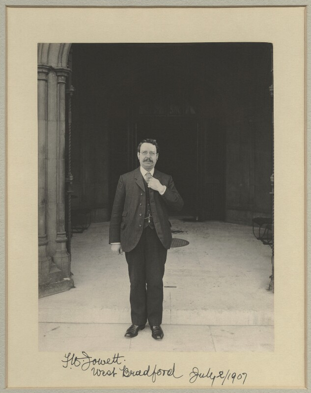 Frederick William Jowett, by Sir (John) Benjamin Stone, 2 July 1907 - NPG x29030 - © National Portrait Gallery, London