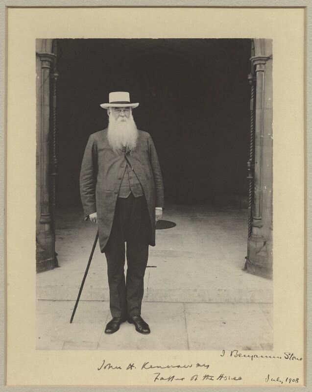 Sir John Henry Kennaway, 3rd Bt, by Sir (John) Benjamin Stone, July 1908 - NPG x29037 - © National Portrait Gallery, London