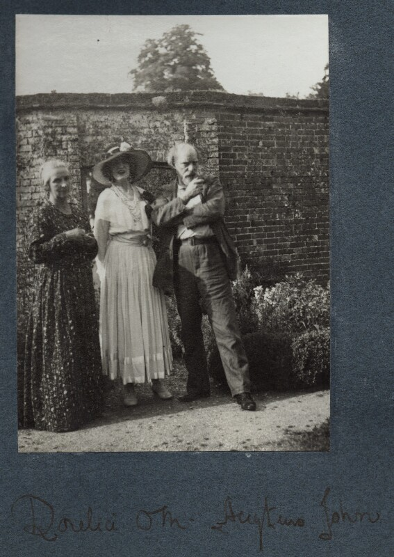Dorelia McNeill; Lady Ottoline Morrell; Augustus John, possibly by Philip Edward Morrell, 1936 - NPG Ax144009 - © National Portrait Gallery, London