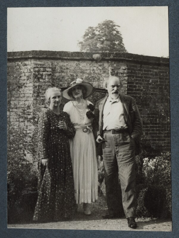 Dorelia McNeill; Lady Ottoline Morrell; Augustus John, possibly by Philip Edward Morrell, 1936 - NPG Ax144010 - © National Portrait Gallery, London