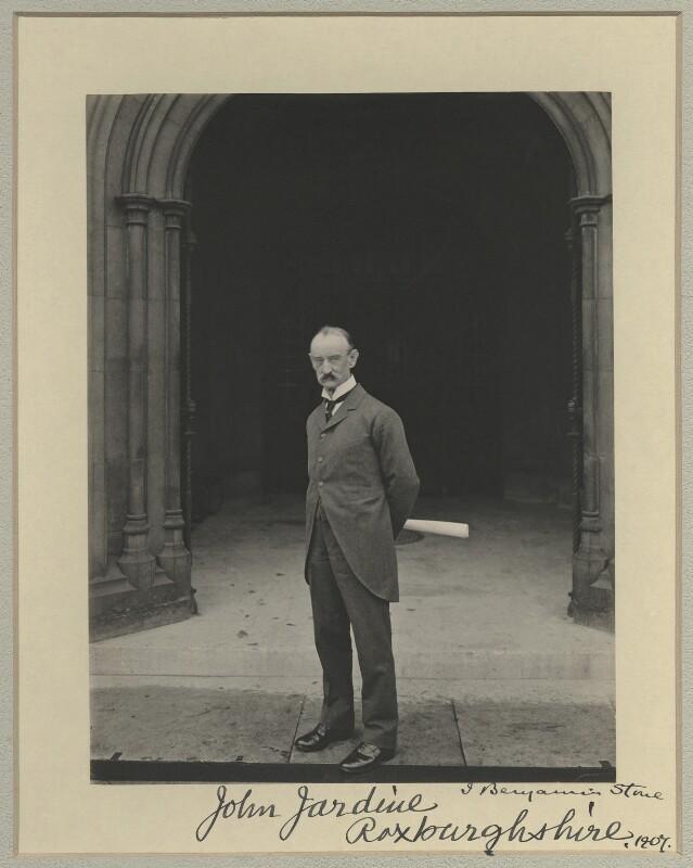 Sir John Jardine, 1st Bt, by Benjamin Stone, 1907 - NPG x20428 - © National Portrait Gallery, London