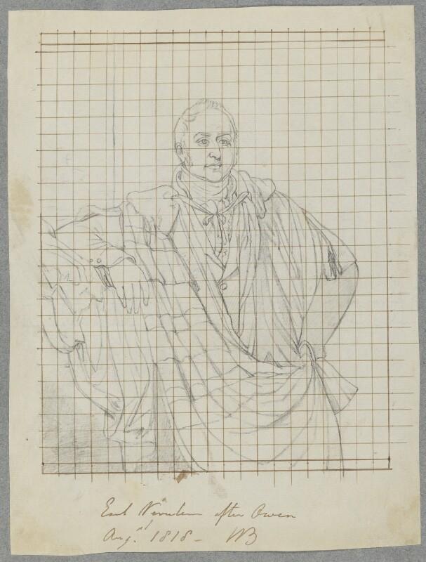 James Walter Grimston, 1st Earl of Verulam, by William Bone Sr, after  William Owen, August 1818 (exhibited 1817) - NPG D17247 - © National Portrait Gallery, London