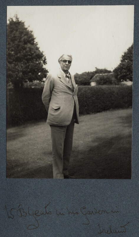 'W.B. Yeats in his garden in Ireland', by Lady Ottoline Morrell, 1936 - NPG Ax144062 - © National Portrait Gallery, London