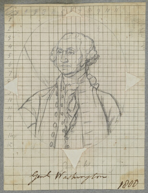 George Washington, by Henry Bone, after  Gilbert Stuart, 1800 (circa 1796) - NPG D17269 - © National Portrait Gallery, London