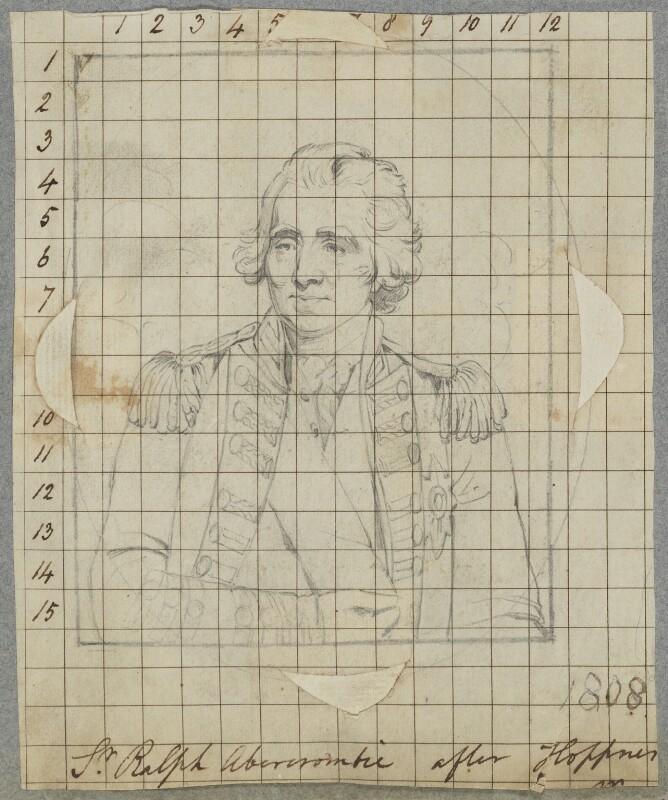Sir Ralph Abercromby, by Henry Bone, after  John Hoppner, 1808 (1798) - NPG D17340 - © National Portrait Gallery, London
