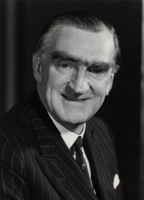Sir Paul Henry Gore-Booth, Baron Gore-Booth, by Godfrey Argent, 6 December 1968 - NPG x76593 - © National Portrait Gallery, London