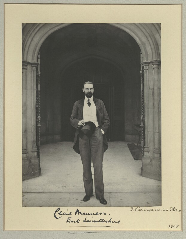 Lord Cecil Reginald John Manners, by Benjamin Stone, 1905 - NPG x31609 - © National Portrait Gallery, London