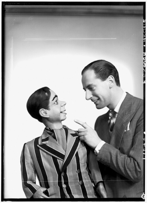 Peter Brough with his puppet Archie Andrews, by Elliott & Fry, 3 March 1950 - NPG x92104 - © National Portrait Gallery, London