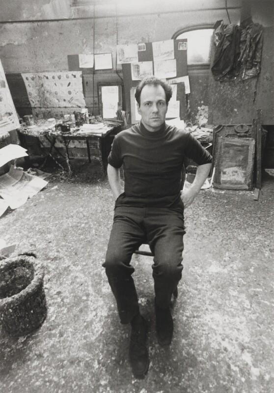 Frank Auerbach, by Bob Collins, 1972 - NPG x128699 - © estate of Bob Collins / National Portrait Gallery, London