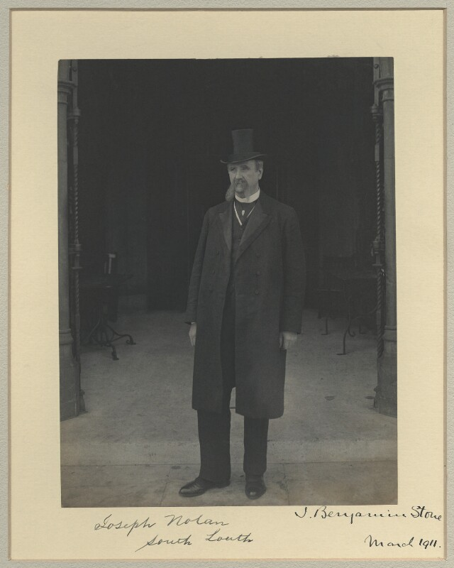 Joseph Nolan, by Sir (John) Benjamin Stone, March 1911 - NPG x32578 - © National Portrait Gallery, London