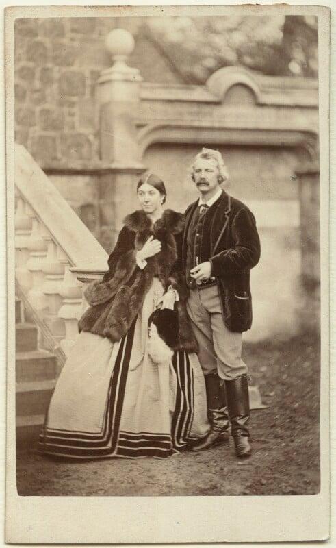 Caroline Blanche Elizabeth (née FitzRoy), Lady Lindsay; Sir Coutts Lindsay, 2nd Bt, by Thomas Buist, September 1864 - NPG x8474 - © National Portrait Gallery, London