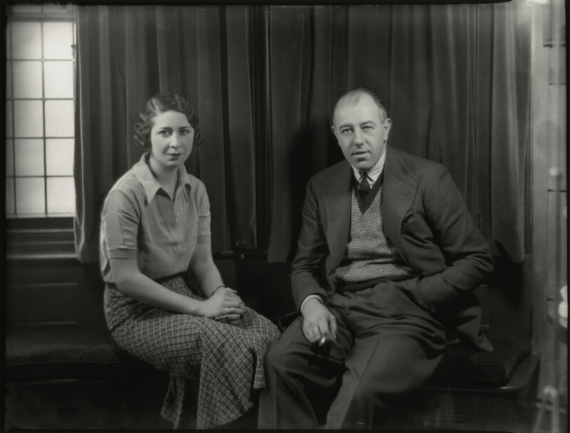Elizabeth (née Vlasto), Countess of Northesk; David Ludovic George Hopetoun Carnegie, 11th Earl of Northesk, by Bassano Ltd, 15 February 1934 - NPG x151028 - © National Portrait Gallery, London