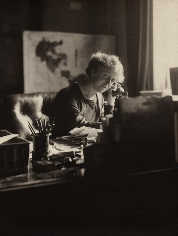 Frances Louise Stevenson, by Olive Edis, 1917 - NPG x16096 - © National Portrait Gallery, London
