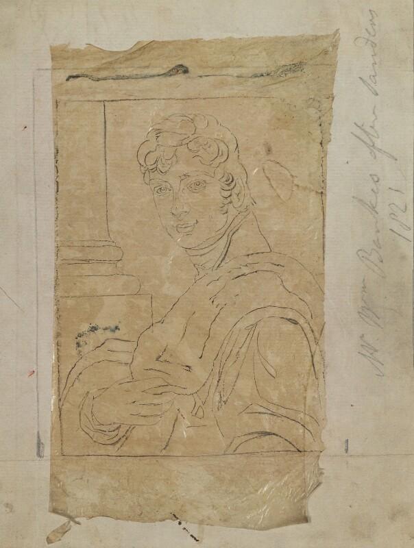 William John Bankes, by Henry Bone, after  George Sanders (Saunders), 1821 (1812) - NPG D17608 - © National Portrait Gallery, London