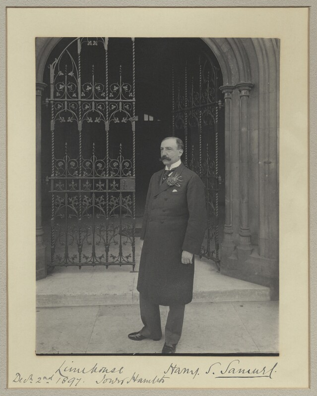 Sir Harry Simon Samuel, by Benjamin Stone, 2 December 1897 - NPG x35053 - © National Portrait Gallery, London