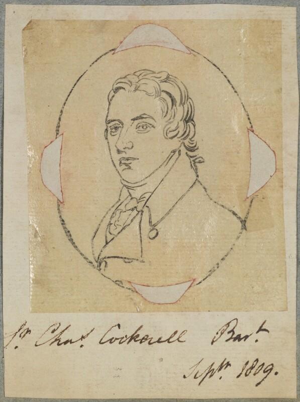 Sir Charles Cockerell, 1st Bt, by Henry Bone, after  Andrew Plimer, September 1809 - NPG D17640 - © National Portrait Gallery, London