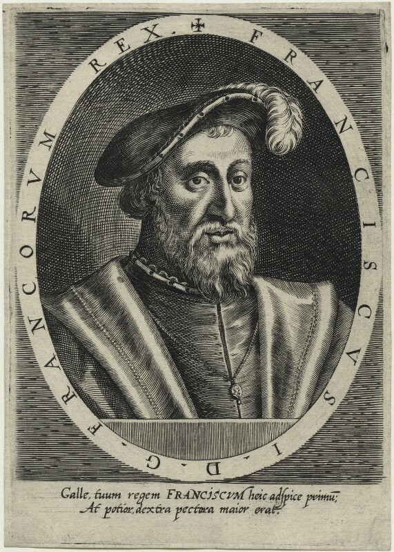 François I (Francis I), King of France, after Unknown artist, early 17th century - NPG D23477 - © National Portrait Gallery, London
