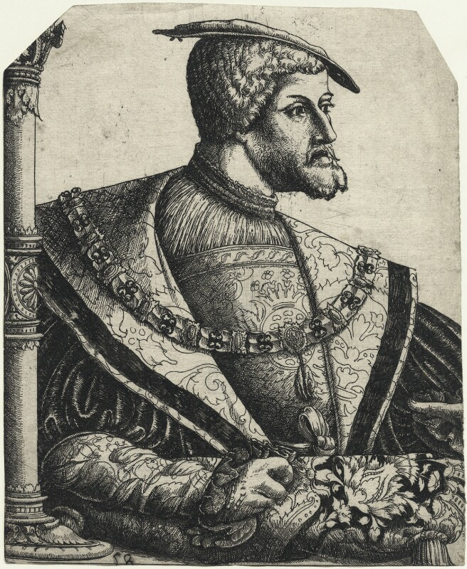 Charles V, Holy Roman Emperor, by Christoffel Bockstorfer, 1540s-1550s - NPG D23479 - © National Portrait Gallery, London