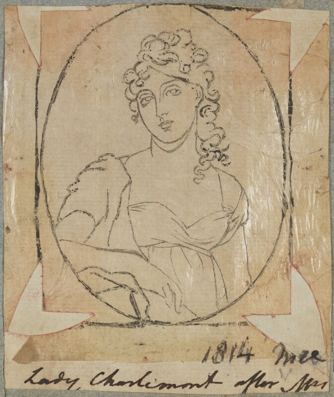Anne Caulfeild (née Bermingham), Countess of Charlemont, by Henry Bone, possibly after  Anne Mee (née Foldsone), 1814 - NPG D17695 - © National Portrait Gallery, London