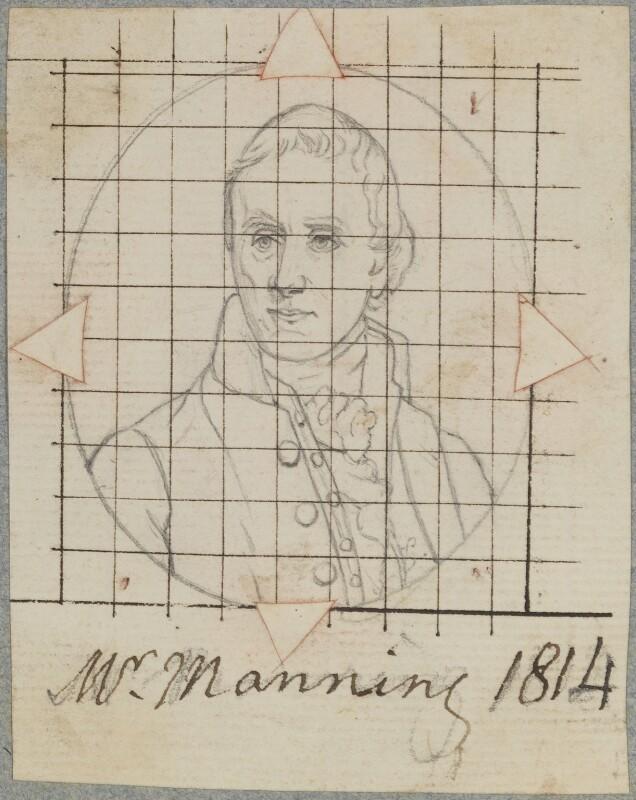 William Manning, by Henry Bone, after  James Lonsdale, 1814 (exhibited 1814) - NPG D17715 - © National Portrait Gallery, London