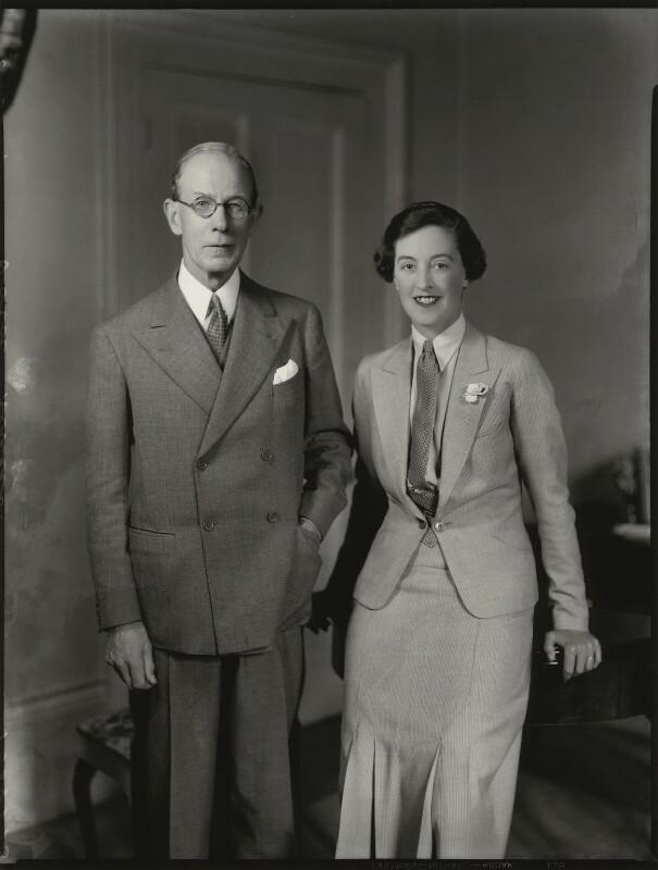 Robert Munro, 1st Baron Alness; Olga Marie Munro (née Grumler), Lady Alness, by Bassano Ltd, 6 June 1934 - NPG x151131 - © National Portrait Gallery, London