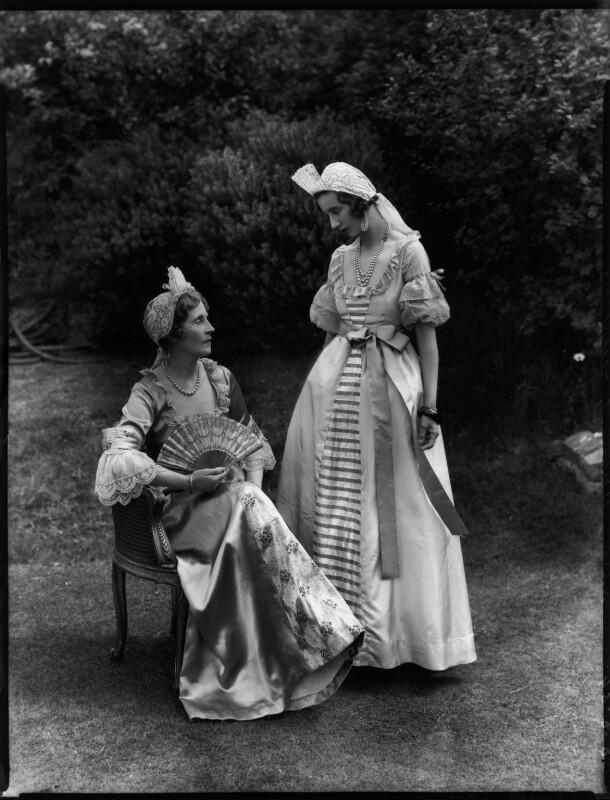 Lady Lilian Maud Grenfell (née Spencer-Churchill); Iris Consuelo Grenfell, by Bassano Ltd, 8 June 1934 - NPG x151138 - © National Portrait Gallery, London