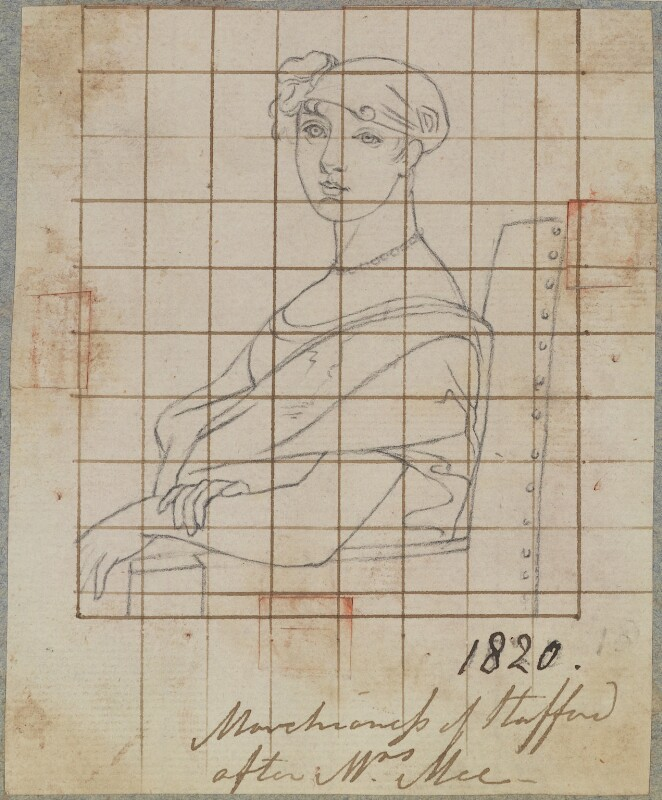 Harriet Elizabeth Georgiana Leveson-Gower (née Howard), Duchess of Sutherland, by Henry Bone, after  Anne Mee (née Foldsone), 1820 (circa 1800) - NPG D17725 - © National Portrait Gallery, London