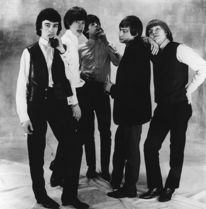 The Rolling Stones (Bill Wyman; Mick Jagger; Keith Richards; Charlie Watts; Brian Jones), by Norman Parkinson, 1964 - NPG x30109 - © Norman Parkinson Archive