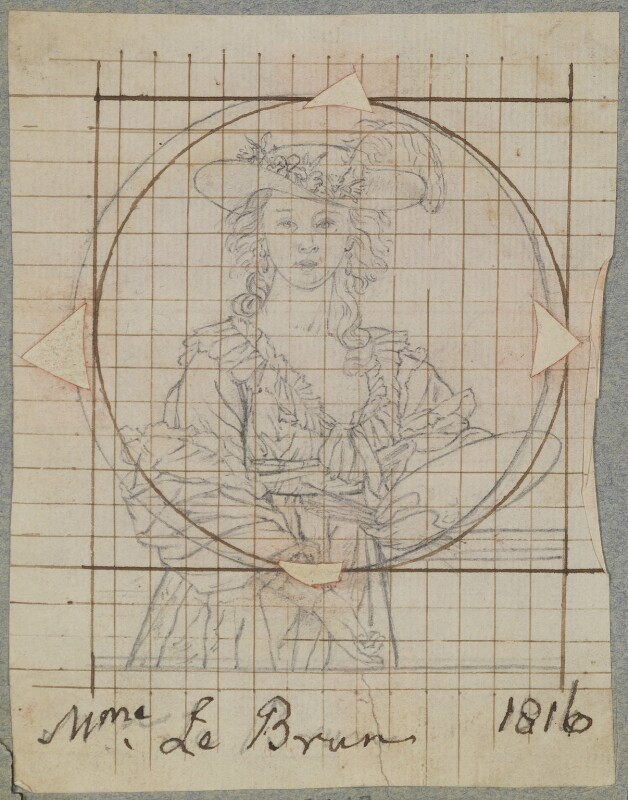 Elisabeth-Louise Vigée-Le Brun, by Henry Bone, after  Elisabeth-Louise Vigée-Le Brun, 1816 (after 1782) - NPG D17743 - © National Portrait Gallery, London