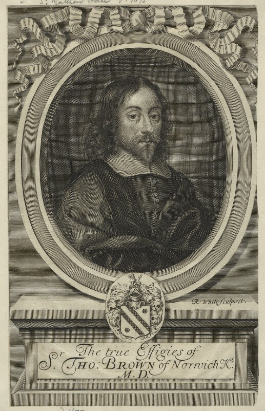 Sir Thomas Browne, by Robert White, published 1686 - NPG D23495 - © National Portrait Gallery, London