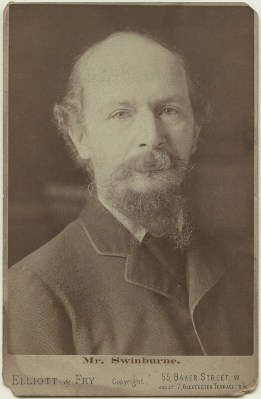 Algernon Charles Swinburne, by John McLanachan, for  Elliott & Fry, circa 1894 - NPG x12830 - © National Portrait Gallery, London