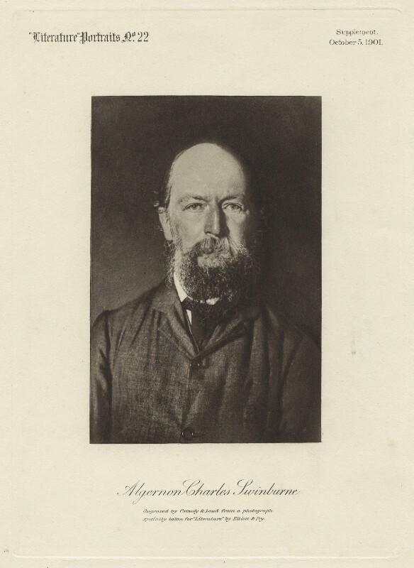 Algernon Charles Swinburne, by Crowdy & Loud, after  Elliott & Fry, published 5 October 1901 - NPG x26688 - © National Portrait Gallery, London