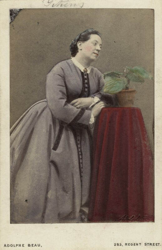 (Johanna) Therese Carolina Tietjens (Titiens), by Adolphe Paul Auguste Beau, 1860s - NPG x74495 - © National Portrait Gallery, London