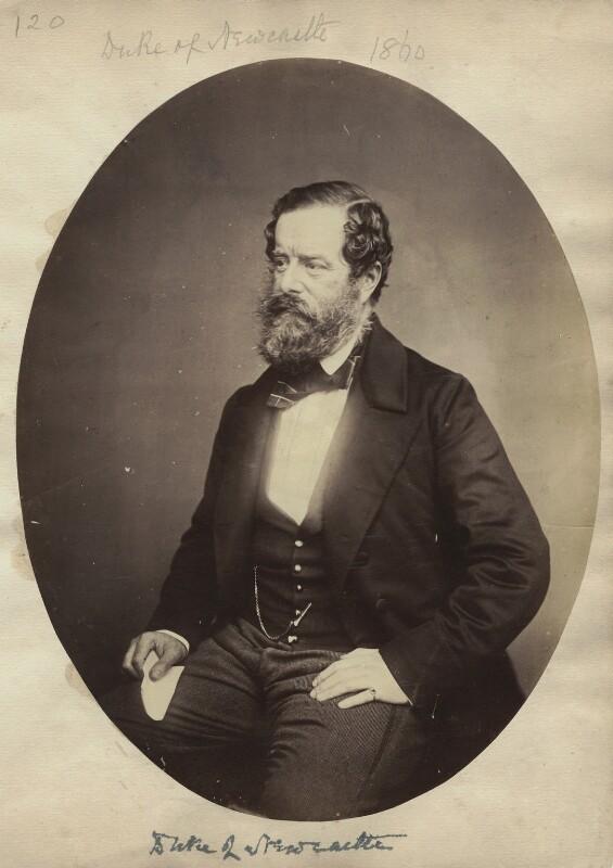 Henry Pelham Fiennes Pelham-Clinton, 5th Duke of Newcastle-under-Lyne, by Unknown photographer, 1860 - NPG x128723 - © National Portrait Gallery, London