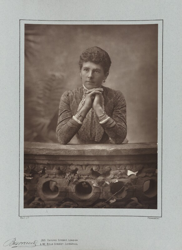 Hariot Georgina (née Rowan-Hamilton), Marchioness of Dufferin and Ava, by Herbert Rose Barraud, published by  Eglington & Co, published 1890 - NPG Ax5477 - © National Portrait Gallery, London