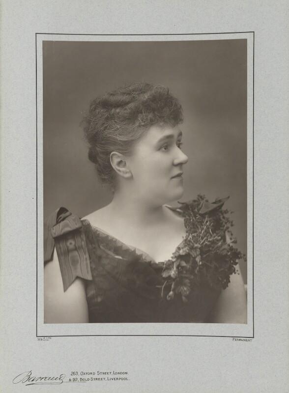 Henrietta Eliza Vaughan Stannard (née Palmer), by Herbert Rose Barraud, published by  Eglington & Co, published 1890 - NPG Ax5489 - © National Portrait Gallery, London