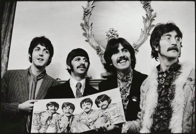The Beatles (Paul McCartney; Ringo Starr; George Harrison; John Lennon), by Linda McCartney, 19 May 1967 - NPG x128735 - © Paul McCartney