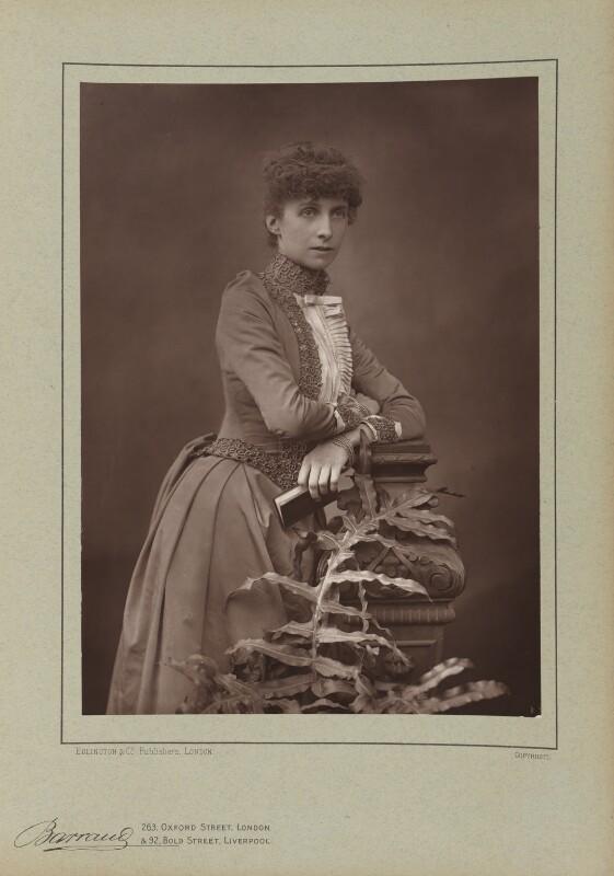 Rosalind Frances Ellicott, by Herbert Rose Barraud, published by  Eglington & Co, published 1890 - NPG Ax5501 - © National Portrait Gallery, London