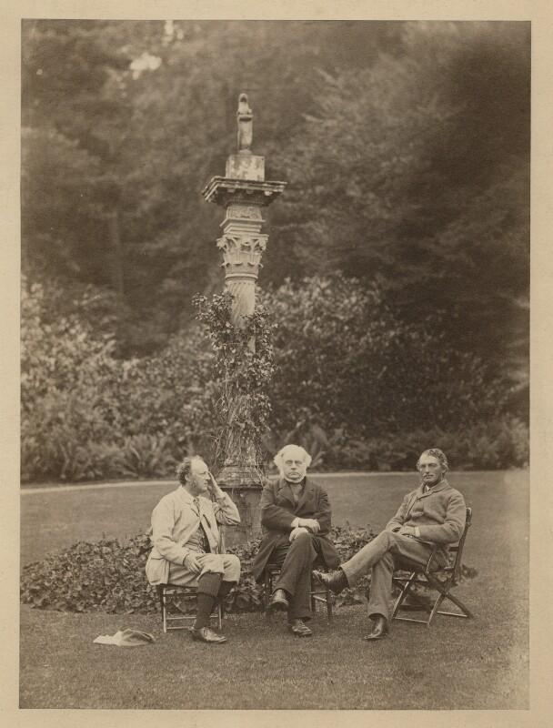 Sir John Everett Millais, 1st Bt; John Bright; Henry James, 1st Baron James of Hereford, by Rupert Potter, 30 September 1875 - NPG x4324 - © National Portrait Gallery, London