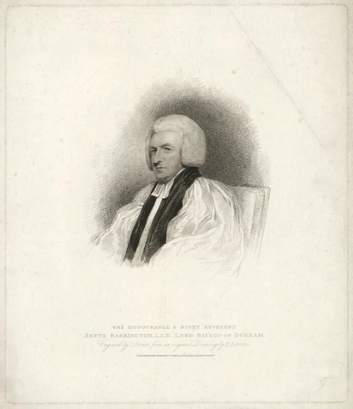 Shute Barrington, by Charles Picart, after  Henry Edridge, published 1810 - NPG D21466 - © National Portrait Gallery, London