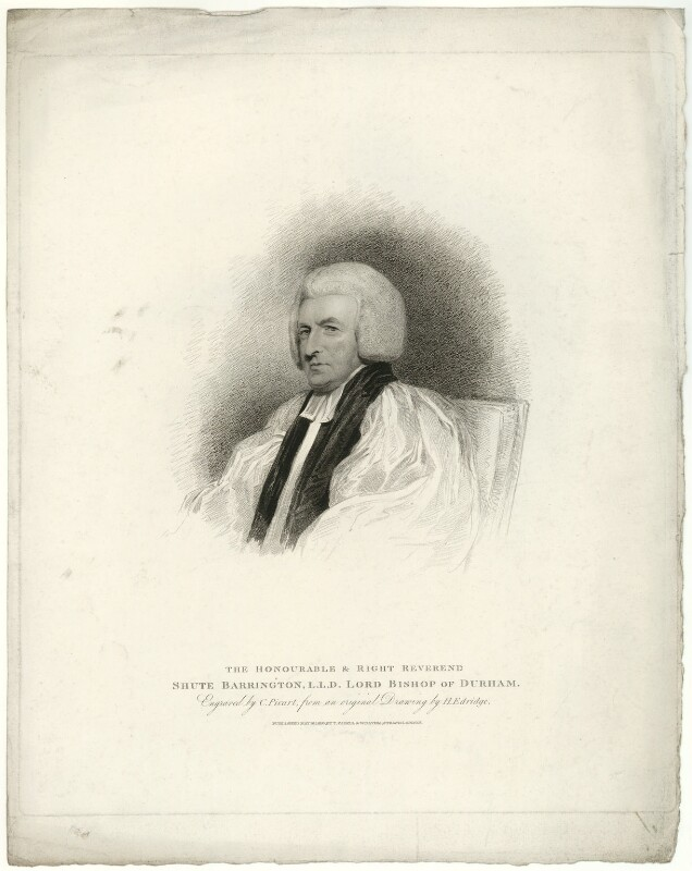 Shute Barrington, by Charles Picart, after  Henry Edridge, published 1810 - NPG D21467 - © National Portrait Gallery, London