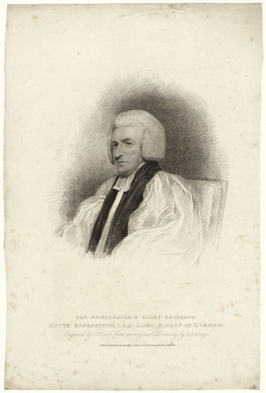 Shute Barrington, by Charles Picart, after  Henry Edridge, published 1810 - NPG D21469 - © National Portrait Gallery, London