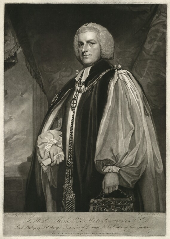Shute Barrington, by John Jones, after  George Romney, published 1786 - NPG D21472 - © National Portrait Gallery, London