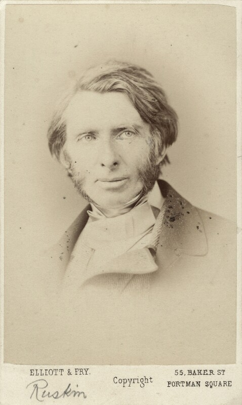 John Ruskin, by Elliott & Fry, 1867 - NPG x13290 - © National Portrait Gallery, London