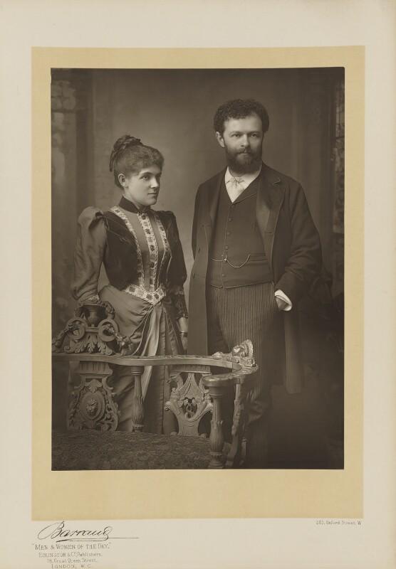 Lillian June Henshel (née Bailey); Sir George Henschel, by Herbert Rose Barraud, published by  Eglington & Co, published 1891 - NPG Ax5546 - © National Portrait Gallery, London
