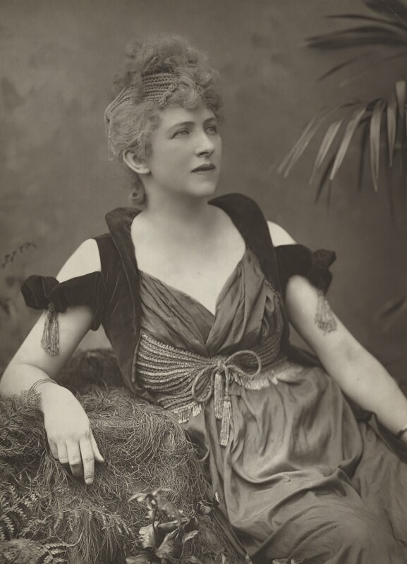 Fanny Mary Bernard-Beere (née Whitehead), by Herbert Rose Barraud, published by  Eglington & Co, published 1889 - NPG Ax5440 - © National Portrait Gallery, London