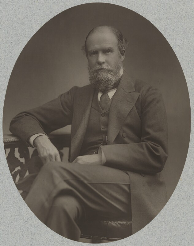 John Lubbock, 1st Baron Avebury, by Herbert Rose Barraud, published by  Eglington & Co, published 1889 - NPG Ax5442 - © National Portrait Gallery, London